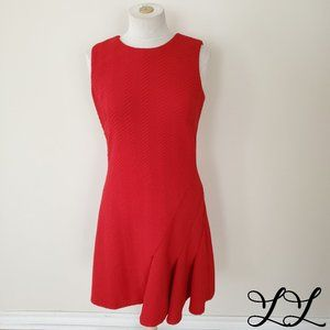 Calvin Klein Dress Red Fitted Stretch Pencil Flare